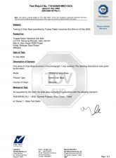 Test Report for Nylon Chair Base